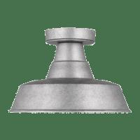 Barn Light One Light Outdoor Flush Mount - Weathered Pewter Bulbs Inc