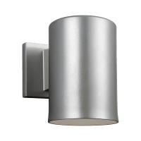 Outdoor Cylinders Small One Light Outdoor Wall Lantern Painted Brushed Nickel