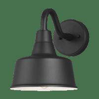 Barn Light Small One Light Outdoor Wall Lantern Black Bulbs Inc