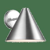 Crittenden Medium One Light Outdoor Wall Lantern Satin Aluminum Bulbs Inc