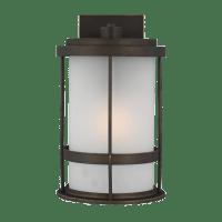 Wilburn Medium One Light Outdoor Wall Lantern Antique Bronze Bulbs Inc