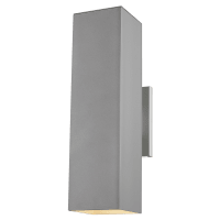 Pohl Large Two Light Outdoor Wall Lantern Painted Brushed Nickel