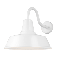 Barn Light Extra Large One Light Outdoor Wall Lantern White