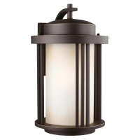 Crowell Large One Light Outdoor Wall Lantern Antique Bronze