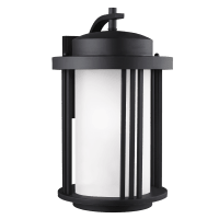 Crowell Large One Light Outdoor Wall Lantern Black Bulbs Inc
