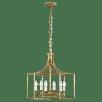 Bantry House Wide Lantern Antique Gild