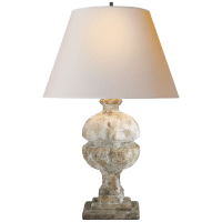 Desmond Table Lamp in Garden Stone with Natural Paper Shade
