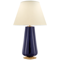 Penelope Table Lamp in Denim with Natural Percale Shade