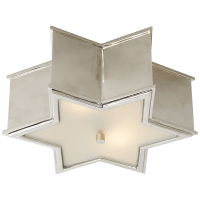 Sophia Small Flush Mount in Polished Nickel with Frosted Glass