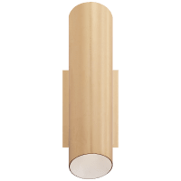 Tourain Wall Sconce in Gild with Plaster White Interior
