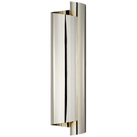 Iva Large Wrapped Sconce in Polished Nickel