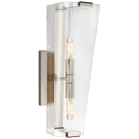 Alpine Single Sconce in Polished Nickel with Clear Glass