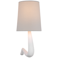 Gaya Medium Sconce in Plaster White with Linen Shade