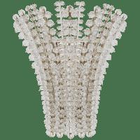 Serafina Medium Sconce in Polished Nickel with Crystal