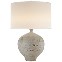 Gaios Table Lamp in Pharaoh White with Linen Shade