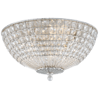 Renwick Flush Mount in Burnished Silver Leaf with Crystal