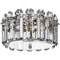 Bonnington Small Flush Mount in Polished Nickel with Crystal