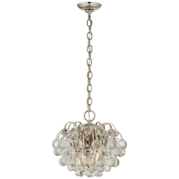 Bellvale Small Chandelier in Polished Nickel with Crystal