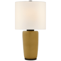 Chado Large Table Lamp in Dark Moss with Linen Shade