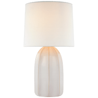 Melanie Large Table Lamp in Ivory with Linen Shade