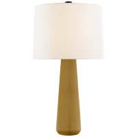Athens Large Table Lamp in Dark Moss with Linen Shade