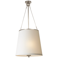 Westport Hanging Shade in Pewter with Silk Shade
