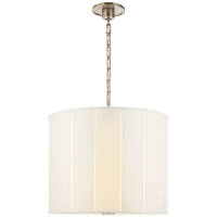 Perfect Pleat Hanging Shade in Pewter with Silk Shade