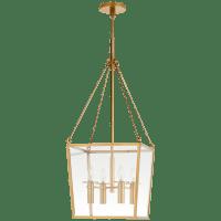 Cochere Medium Lantern in Soft Brass