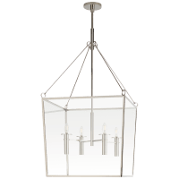Cochere Large Lantern in Polished Nickel