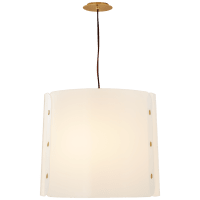 Dapper Medium Hanging Shade in Soft Brass with White Acrylic Shade