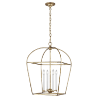 Stonington Medium Lantern Antique Gild
