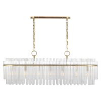Beckett Linear Chandelier Burnished Brass