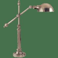 Pimlico Table Lamp in Antique Nickel with Antique Nickel Shade
