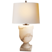 Chunky Urn Large Table Lamp in Alabaster with Natural Paper Shade