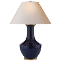 Lambay Table Lamp in Denim with Natural Paper Shade