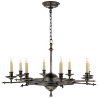 Leaf and Arrow Large Chandelier in Bronze