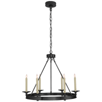 Launceton Small Ring Chandelier in Bronze