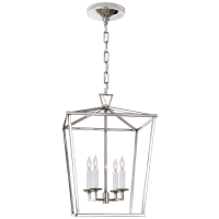 Darlana Small Lantern in Polished Nickel
