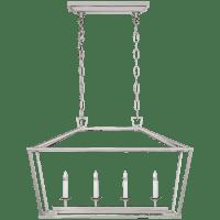 Darlana Small Linear Lantern in Polished Nickel