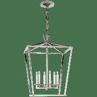 Darlana Large Lantern in Polished Nickel