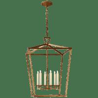 Darlana Extra Large Lantern in Gilded Iron