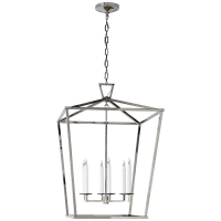 Darlana Extra Large Lantern in Polished Nickel