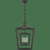 Darlana Medium Double Cage Lantern in Aged Iron