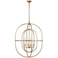 Desmond Open Double Oval Lantern in Gild