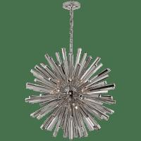 Lawrence Medium Sputnik Chandelier in Polished Nickel