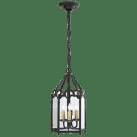 French Market Small Lantern in Black Rust