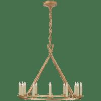 Darlana Medium Single Ring Chandelier in Gilded Iron