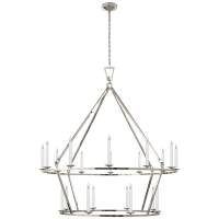 Darlana Extra Large Two-Tier Chandelier in Polished Nickel