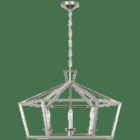 Darlana Wide Hexagonal Lantern in Polished Nickel