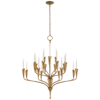 Aiden Large Chandelier in Gilded Iron